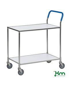 Wózek stołowy,  z 2 białymi półkami, ocynk el.