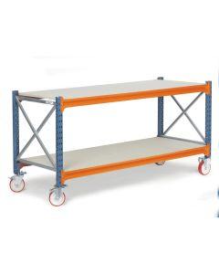 Stół warsztatowy na kółkach. D800 mm