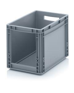 Pojemnik 1/8 Euro H320 mm. Z otwartym przodem. Szary (Auer)