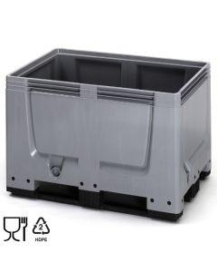Skrzyniopaleta plastikowa B1200 x D800 mm. Szara (Auer)