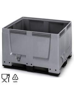 Skrzyniopaleta plastikowa B1200 x D1000 mm. Szara (Auer)