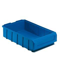 Pojemnik magazynowy. H90 x B232 x D400 mm. Niebieski