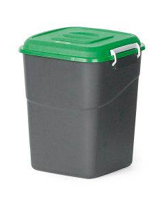 Pojemnik na dopady z zieloną pokrywą. 50  l