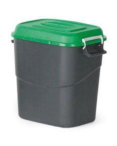 Pojemnik na dopady z zieloną pokrywą. 75  l