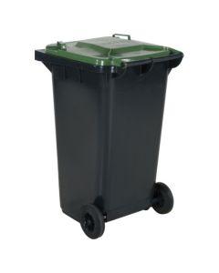 Pojemnik na dopady z zieloną pokrywą. 240 l