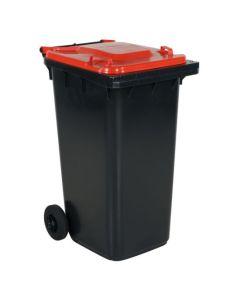Pojemnik na dopady z czerwoną pokrywą. 240 l