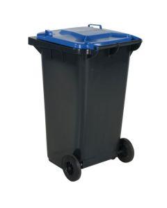 Pojemnik na dopady z niebieską pokrywą. 240 l