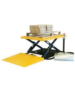 Stół podnośny, stacjonarny z rampą