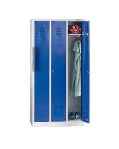 Szafa BHP 3 drzwiowa. Niebieskie drzwiczki
