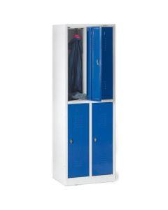 Szafa szkolna 4 drzwiowa, niebieskie drzwiczki