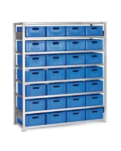 Regał z pojemnikami - 28x142106. Niebieskie